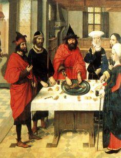 The Feast of the Passover, Dieric the Elder Boutis, 1464-67, Sint-Pieterskerk, Leuven