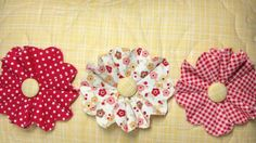 How to Make Fun Frilly Fabric Flowers