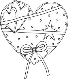 Beyond the Fringe: Prim Valentines and Sentiment Freebie Embroidery Hearts, Embroidery Patterns, Hand Embroidery, Primitive Embroidery, Primitive Stitchery, Coloring Book Pages, Coloring Sheets, Valentine Crafts, Valentines