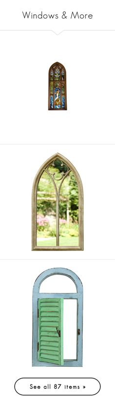 """""""Windows & More"""" by jennie-bo-bennie ❤ liked on Polyvore featuring windows, harry potter, fillers, hogwarts, hp, decor, home, home decor, mirrors and arched wall mirror"""