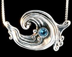 Etsy :: Ваше место для покупки и продажи изделиий ручной работы Wave Jewelry, Ocean Jewelry, Beach Jewelry, Boho Jewelry, Handmade Jewelry, Unique Jewelry, Magic Charms, Charm Rings, Boho Necklace