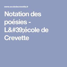 Notation des poésies - L'école de Crevette