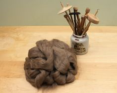 Baby Camel Roving  Undyed Spinning Fiber 4oz by woolgatherings