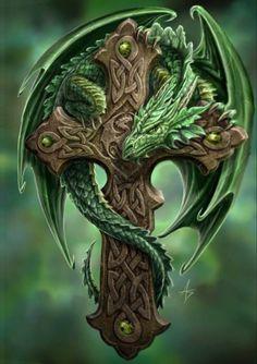 Tattoo Dragon Design Anne Stokes Ideas - Tattoo Thinks Celtic Fantasy Art, Fantasy Dragon, Anne Stokes, Skull Tattoo Design, Dragon Tattoo Designs, High Fantasy, Fantasy Girl, Photo Dragon, Tattoo Examples
