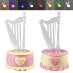 Rotatable harp #music box toy kids gift home room decor with 7 #colors led #light,  View more on the LINK: http://www.zeppy.io/product/gb/2/122278660932/