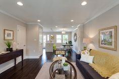 BuildDirect – Engineered Hardwood - Handscraped Distressed Collection – Maple - Dark Chocolate - Living Room View