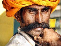 Portrait of Man - Bundi, Rajasthan, India