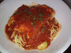 Cod Marechiara over Spaghetti