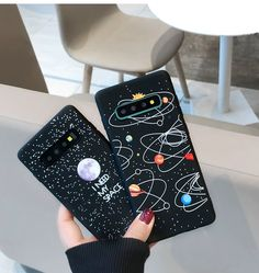 I Need My Space Phone Cases Covers Moon, Planet Illustration Slim Thin Matte Silicone TPU Galaxy S10, Galaxy S10 Plus, Galaxy S10e, Galaxy S9, Galaxy S9 Plus, Galaxy Note 9, Galaxy Note 8, Galaxy A8s | | Casefanatic
