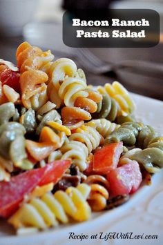 Recipe: Bacon Ranch Pasta Salad - Life With Levi