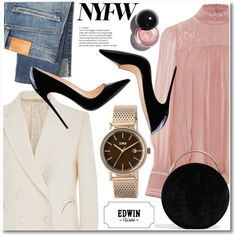 Our Time Together' Edwin Watch 2017 Valentine's Day Contest by paculi on Polyvore featuring polyvore, fashion, style, Isabel Marant, Blazé Milano, Citizens of Humanity, Eddie Borgo, clothing, NYFW and BoldStripes