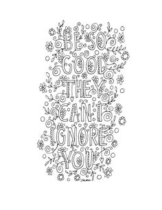 Quote coloring page -INSTANT DOWNLOAD, line art illustration. Personal use. by mollymattin on Etsy