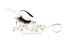 DIGITAL Custom logo design lashes logo lashes beauty logo