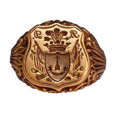 Antique Russian Signet Gold Ring c. 1840