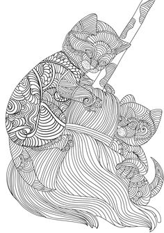 Look at these cute cats! An image straight out of our upcoming adult coloring book :) Keep an eye out for these 30 stress relieving cats soon available for unlimited printing and also paperback...