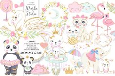MOMMY & ME Clipart By MASHA STUDIO