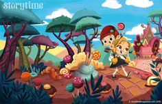 New in Storytime Issue 13 - our Hansel and Gretel fairy tale! Illustration by Betowers (https://www.behance.net/betowers) ~ STORYTIMEMAGAZINE.COM