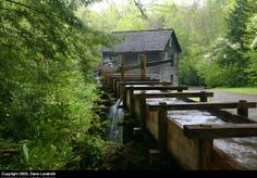 Mingus Mill near Cherokee inside the Great Smoky Mountains National Park