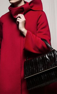 Wrapped in a bow: CH Carolina Herrera Red bow coat