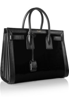 bd1d15139662 SAINT LAURENT Sac De Jour small paneled patent-leather tote Ysl Handbags