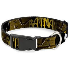 Buckle-Down Batman with Bat Signals and Flying Bats Yellow/Black/White Plastic Clip Collar >>> You can get additional details at the image link. (This is an affiliate link and I receive a commission for the sales) #CatLovers