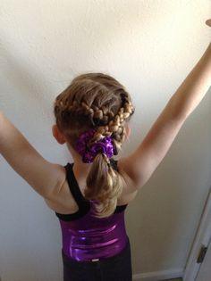 Gymnastics hair D's first meet