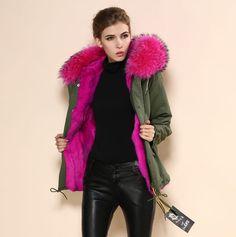 Large fur collar jac