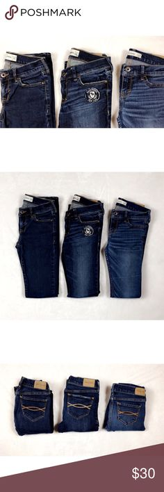 Abercrombie Kids Skinny Jeans Bundle Girls Abercrombie Kids Girls Jeans Lot Size 14 Slim Skinny Jeans Fit EUC abercrombie kids Bottoms Jeans