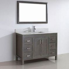 "Corniche 48"" French Gray Single Sink Vanity By Studio Bathe"