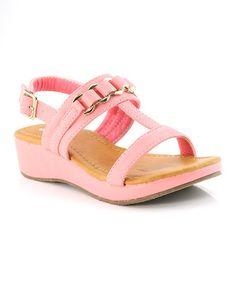 Look what I found on #zulily! Pink & Gold Elaine Sandal #zulilyfinds $14.99