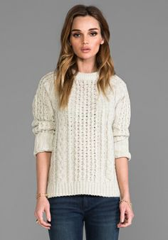 MARC BY MARC JACOBS Sparkle Cable in Whisper White - Sweaters & Knits