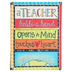 'A Teacher Holds A Hand' Tabletop Canvas art. This would brighten any teachers day. The perfect gift for a wonderful teacher. Teacher Appreciation Gifts, Teacher Gifts, Teacher Stuff, Teacher Treats, Superstar Teacher, Canvas Painting Quotes, Canvas Paintings, Teacher Canvas, Personalized Plaques