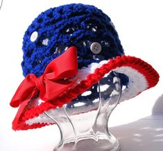 Baby Crochet Hat Pattern Pack Patriotic and by PatternsByKrissy, $4.99