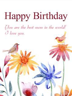 The Best Mom In World Birthday Card