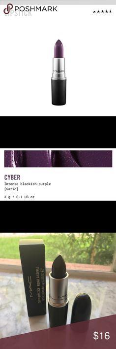 MAC 'Satin Cyber' Lipstick MAC 'Satin Cyber' Lipstick. Brand New. Pigmented Purple. MAC Cosmetics Makeup Lipstick