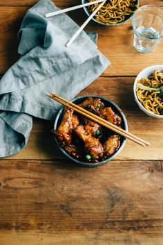 Crazy noodles and wings