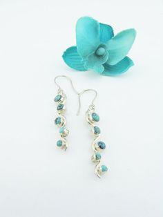 Turquoise EarringsDangle EarringsSterling by PortalsMagicCloset