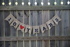Anniversary Banner / Custom Name Banner / by DLCraftyCute on Etsy, $18.00