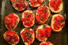 Two super-easy and super-quick appetizers or hors d'oeuvres to serve with drinks on a hot summer day or night. Greek Cheese Pie, Cheese Pies, Cheese Bread, Tomato Appetizers, Quick Appetizers, Tomato Bruschetta, Mediterranean Breakfast, Mediterranean Diet Recipes, Easy Hors D'oeuvres