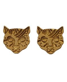 I want them now! Ocelot/Cunaguaro earrings from Jungle Chick
