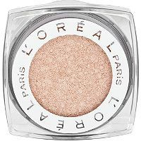 I've decided to branch out from my Bare Minerals shadows... Just tried this in two shades. The pigment is vibrant and a perfect not-too-middle-school-esque shimmery. Plus, it sticks to my eyelids like a fat kid on cake (sans primer!). I will be buying many more shades.    L'Oreal - Infallible Eyeshadow #ultabeauty