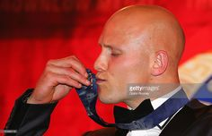 Gary Ablett of the Suns kisses the Brownlow Medal after winning the 2013 Brownlow Medal at Crown Palladium on September 23, 2013 in Melbourne, Australia.