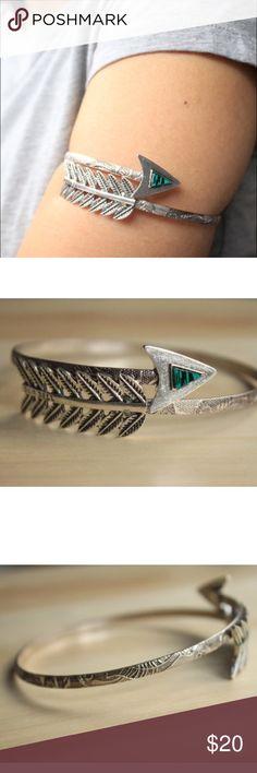 "Boho Upper Arm cuff Silver Upper Arm Cuff.  Adjustable!  Diameter: 3.2"" Jewelry Bracelets"
