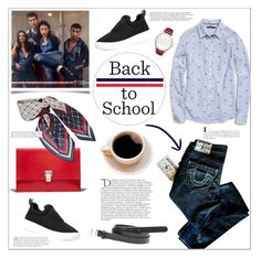 """""""Back to school 2"""" by bogira ❤ liked on Polyvore featuring Hilfiger, True Religion, Tommy Hilfiger, MANGO, Proenza Schouler, Balmain, BackToSchool, denim, fashiontrend and fashionset"""