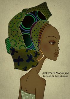 African Woman I Vintage Edition print. The Art of Raul Guerra