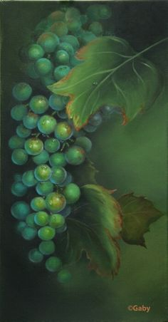 Okanagan Grapes by Gaby Hunter from The Art Apprentice Online Learn Painting, Learn To Paint, Painting Art, Painted Roses, Great Paintings, Art Studies, Painting Techniques, Gold Leaf, Art Blog