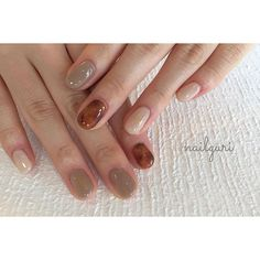 Pin on ネイルデザイン Hot Nails, Nude Nails, Coffin Nails, Hair And Nails, Creative Nail Designs, Creative Nails, Nail Art Designs, Self Nail, Gel French Manicure