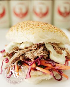 Pulled pork is incredibly popular at the moment and making it is really easy in the slow cooker. The base cooked pork can be used in so many different ways but for a hot summer they work in burgers…