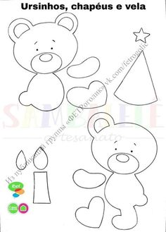 Bear Felt, Diy And Crafts, Arts And Crafts, Bear Crafts, School Decorations, All Craft, Baby Sewing, Paper Piecing, Winnie The Pooh