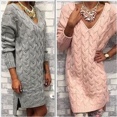 vrouwen trui herfst winter kleding van hoge quarlity mode v hals effen truien lange lengte twist toevallige gebreide trui jurk in  1.Toevallige v-halstruienVrouwen trui.2.Mode effen lange lengte gebreide trui jurk. van truien op AliExpress.com | Alibaba Groep